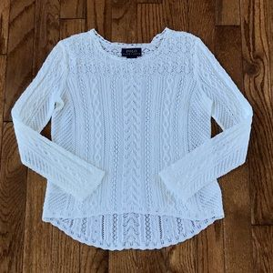 🔥New! Polo Ralph Lauren Girls white sweater top 6